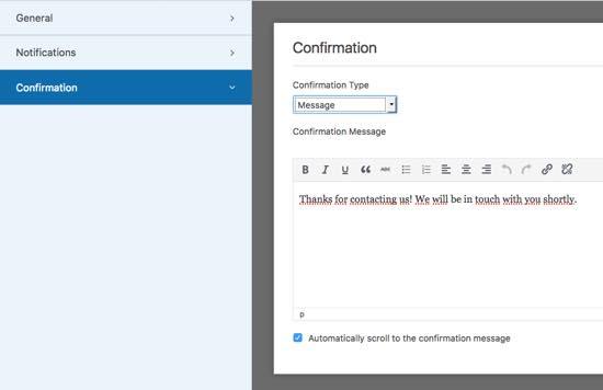 confirmacion wpforms wordpress