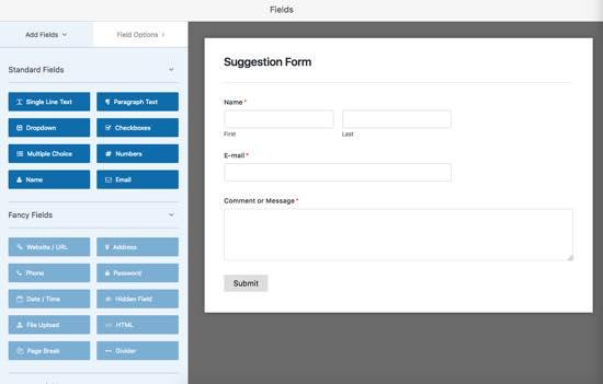 formulario simple wpforms