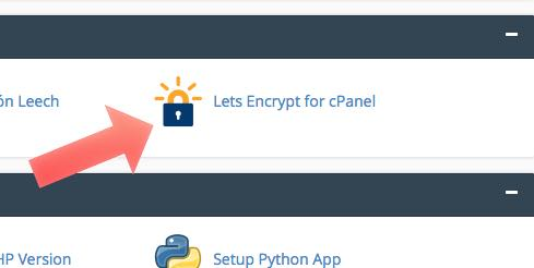lets encrypt en cpanel