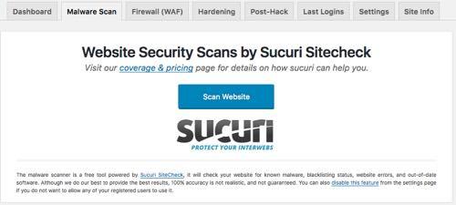 malware scan con Sucuri