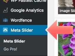 menu lateral Meta slider