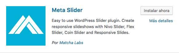 metaslider plugin