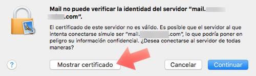 mostrar certificado de seguridad