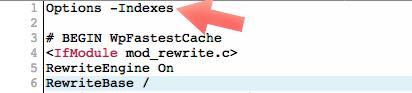 no indexar archivos