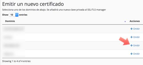 emitir nuevo certificado