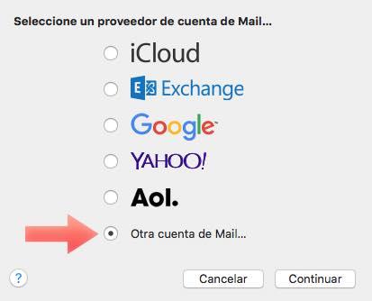 añadir otra cuenta mail