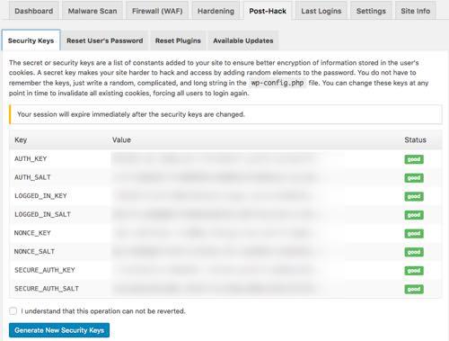 post-hack securi wordpress