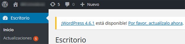 Actualizar WordPress 4.6.1