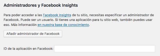 Administradores y Facebook Insights yoast seo