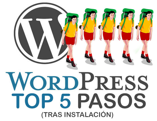 WordPress Top5 Pasos