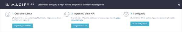 bienvenido imagify wordpress