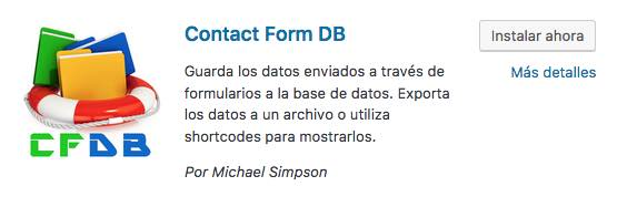 contact form db wordpress
