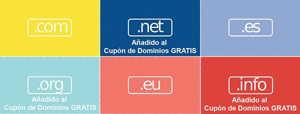 Dominios gratis cupón hostinet