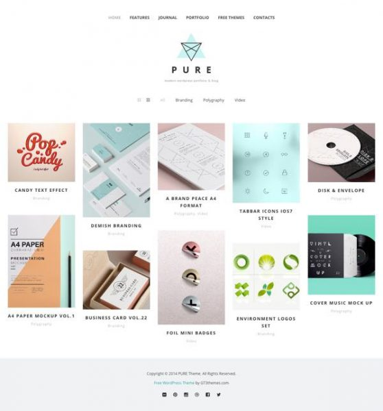 theme pure wordpress