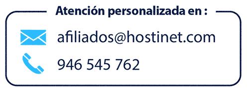 telefono contacto afiliados Hostinet
