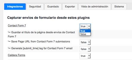 true cfdb Contact Form DB