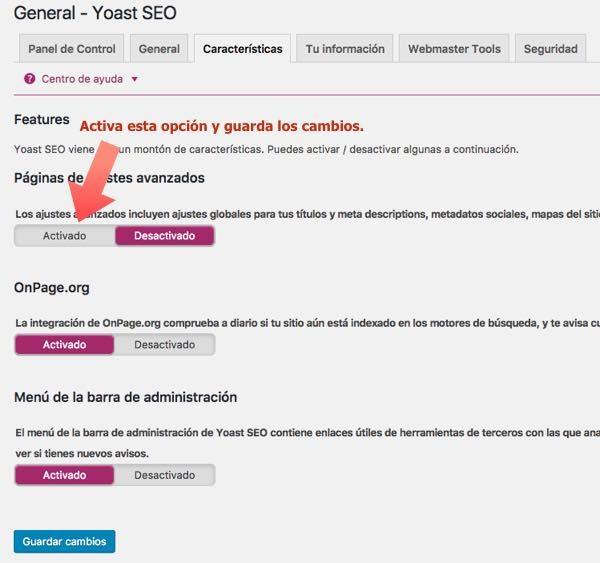 WordPress yoast  SEO caracteristicas