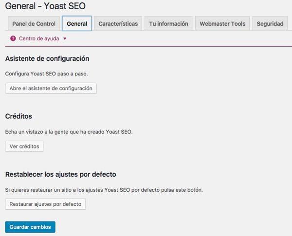 Wordpress yoast general