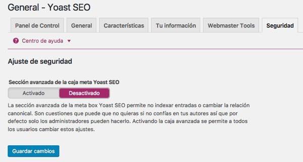 WordPress yoast SEO seguridad