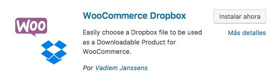 WooCommerce Dropbox plugin