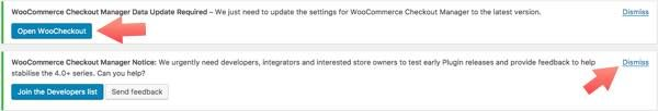 alertas checkout woocommerce