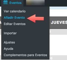 añaadir evento