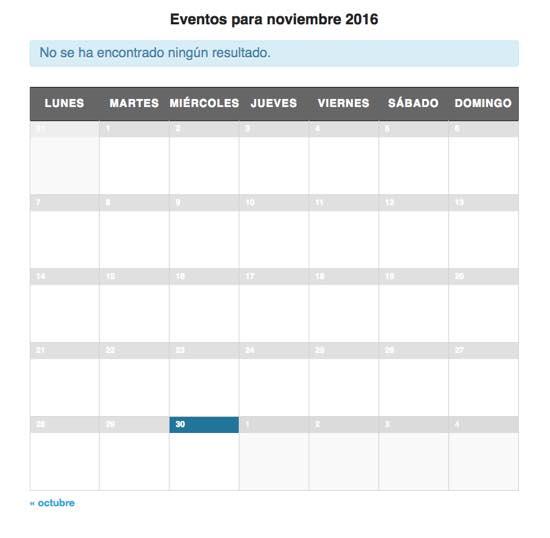 calendario eventos plugin