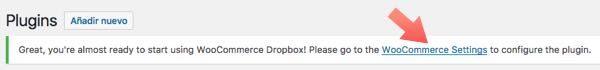 configurar plugin  WooCommerce Dropbox
