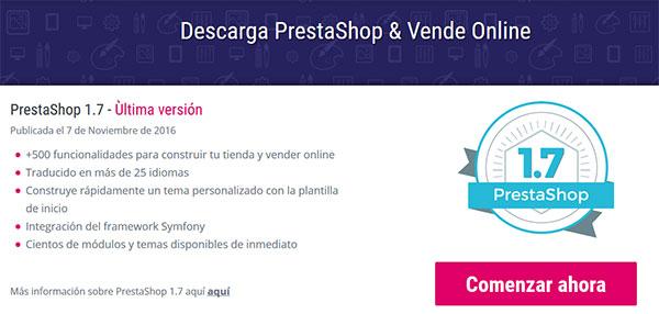 Descarga PrestaShop 1.7