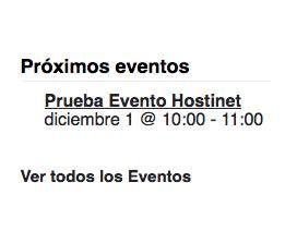 próximos eventos event calendar