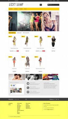 Sexy Shop PrestaShop Free Theme
