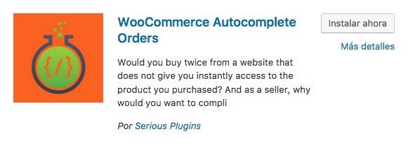 Autocomplete Orders plugin WordPress / WooCommerce
