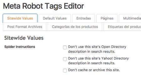 Meta Robot Tags Editor SEO Ultimate