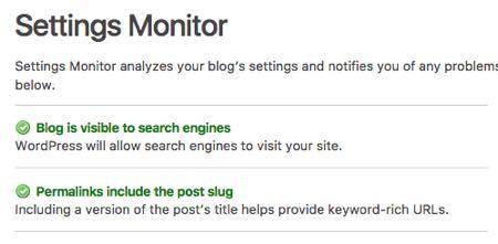 Settings Monitor SEO Ultimate