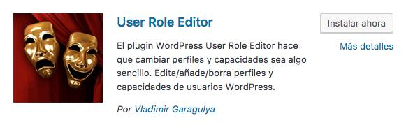 User Role Editor plugin wordpress