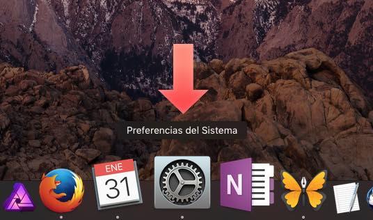 acceder preferencias macos Sierra