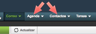 agenda contactos horde webmail