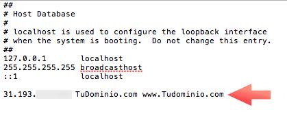 archivo hosts macOS