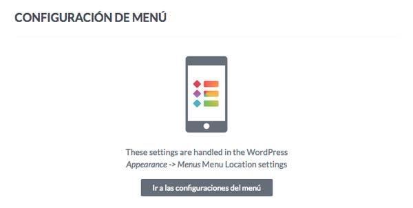 configuracion menu wptouch en WordPress