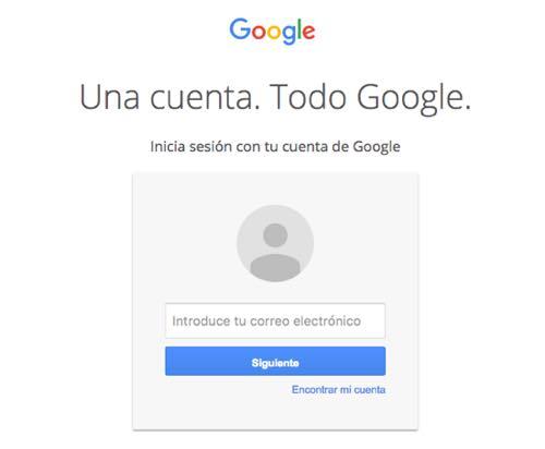 acceso cuenta google