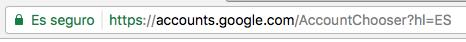 cuenta real google URL