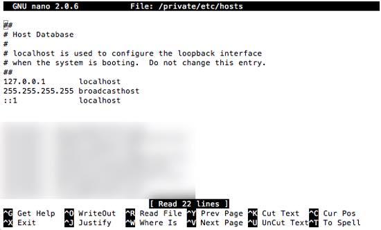 hosts terminal macOS