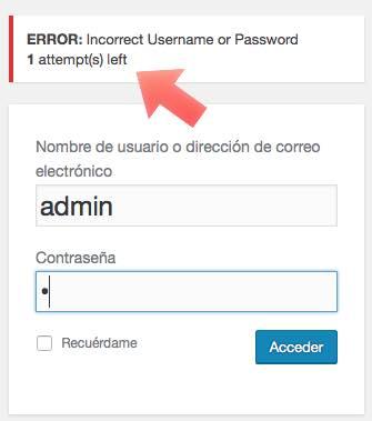 intentos accesos loginzer en WordPress