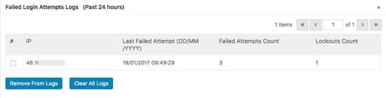 ip bloqueada loginizer security