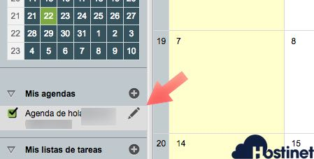 lapiz editar agenda calendartio horde