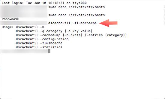 limpiar cache terminal macOS
