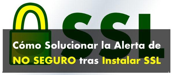 no seguro ssl SOLUCION