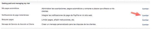 notificacion pago instantaneas paypal WooCoomerce