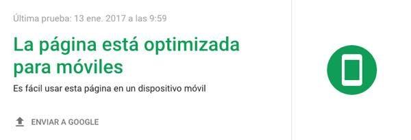 pagina optimizada moviles Google