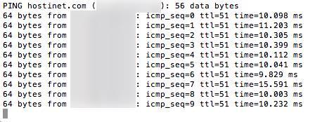 ping terminal hosts macOS